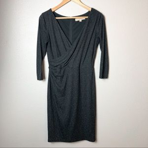 Ann Taylor LOFT dark gray wrap dress size xs